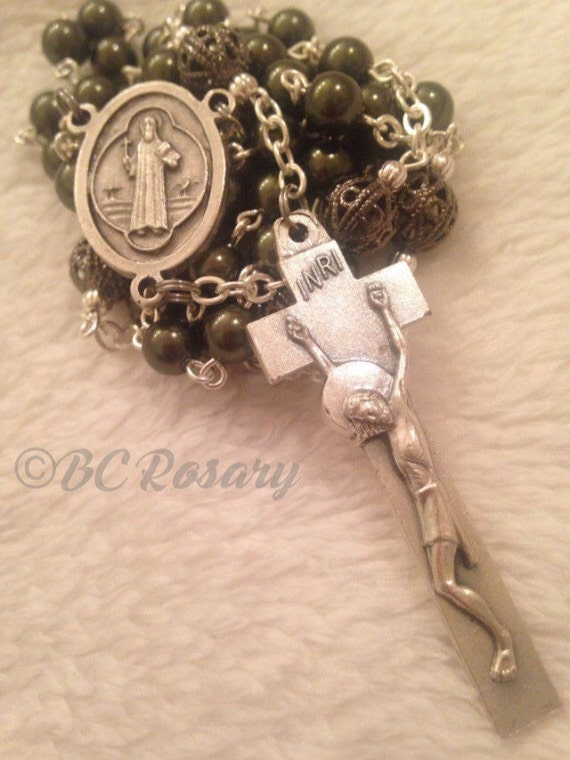Catholic Green Irish Rosary