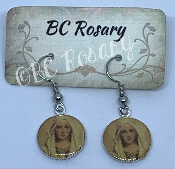 Our Lady of the Rosary Earrings
