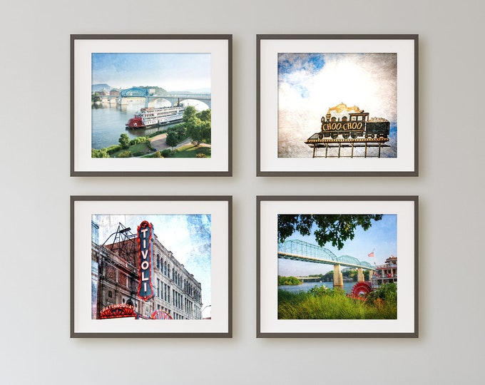 Chattanooga Photography Canvas or Print Set, Chattanooga Wall Art, Chattanooga Pictures, Wood or Metal Chattanooga Prints, Canvas Art