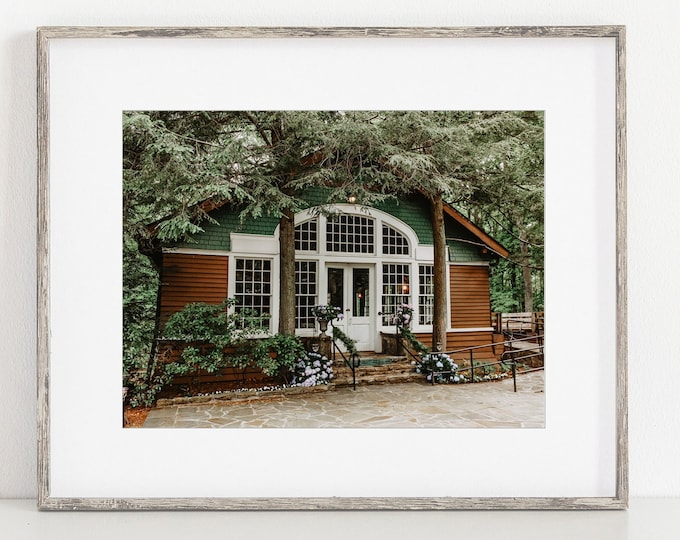 Little Brown Church Wall Art Print or Canvas. Walden Tennessee and Signal Mountain Church Landmark Photography Wall Art Print. Gift for Her.