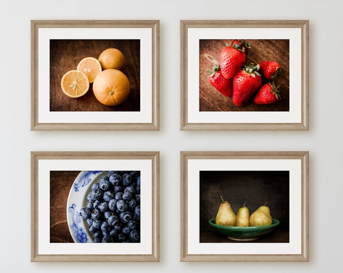Kitchen Fruit Wall Art Prints and Canvas Prints. Farmhouse Kitchen Home Decor. Colorful Country Kitchen Still Life Photography Wall Art.