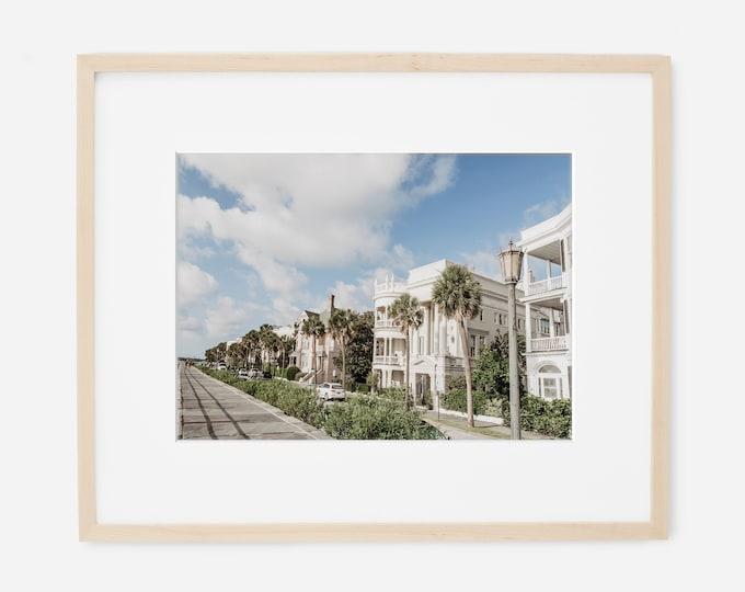 Charleston Photography Print, Waterfront, Charleston Harbor, Coastal Decor, Large Canvas Art, The Battery, E. Battery, Custom Framed Prints