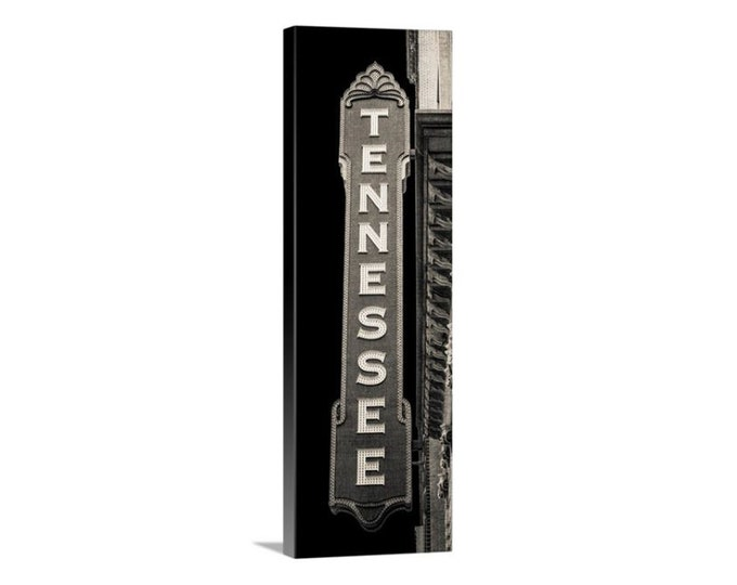 Tennessee Sign Photography Canvas, Black & White Art, UT Vols, Knoxville, Framed Tennessee Sign, Large Tennessee Canvas Art, Sign Art
