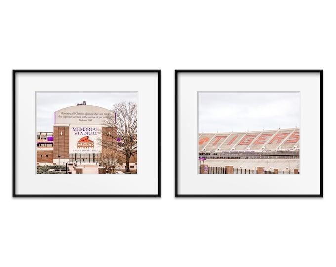 Clemson University Photography Prints, Clemson Tigers, Framed Clemson Prints, Clemson Art, Clemson Canvas Set, Clemson National Champs
