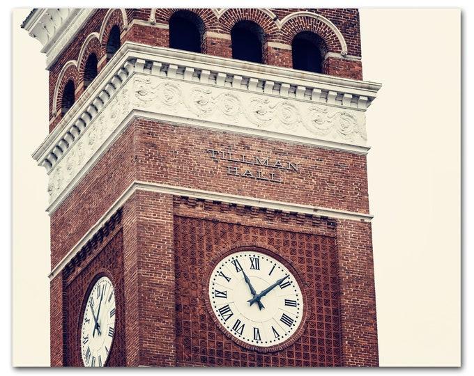 Clemson University Photography Print, Clemson Tigers, Framed Clemson Print, Clemson Art, Clemson Canvas, National Champs, Tillman Hall