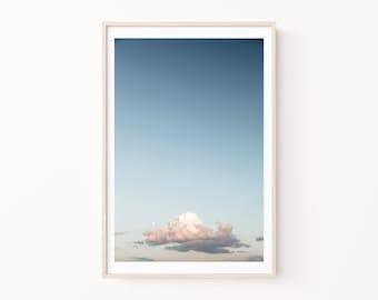 Cloud Photography Print, Clouds Wall Art, Large Canvas Art, Nursery Wall Art, Celestial Wall Art, Blue Sky Wall Art, Sky Print & Canvas Art