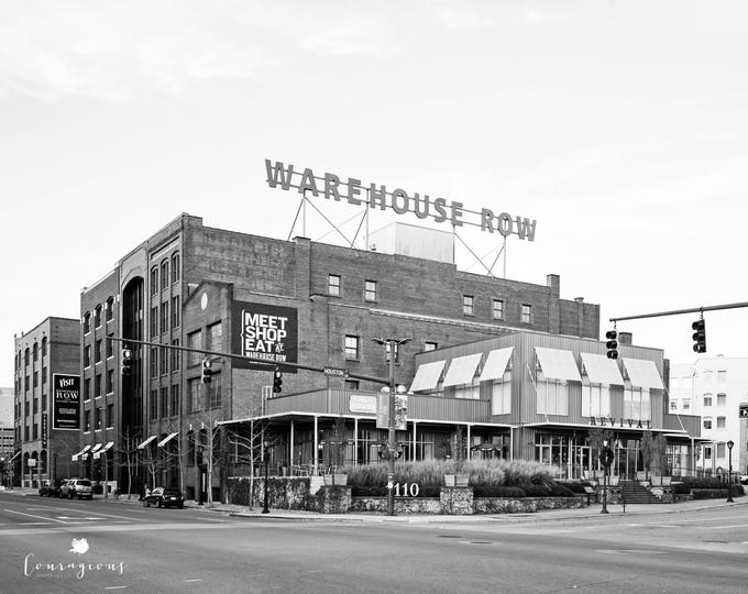 Chattanooga Photography Warehouse Row Black & White Wall Art Tennessee Market Street Urban Print Canvas 30x40 24x30 30x24 16x20 11x14