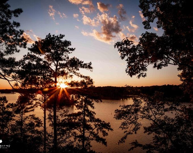 Lake Murray Photography Print, South Carolina Sunset, Large Canvas Art, Framed Sunset Print, Lake Murray Canvas & Metal Print Available