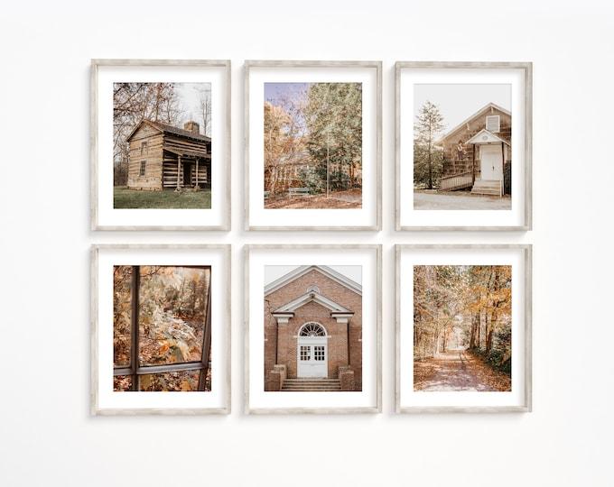 Walden Tennessee Wall Art Decor Print or Canvas Set. Walden Signal Mountain Little Brown Church  Landmark Photography Wall Art Print Set.