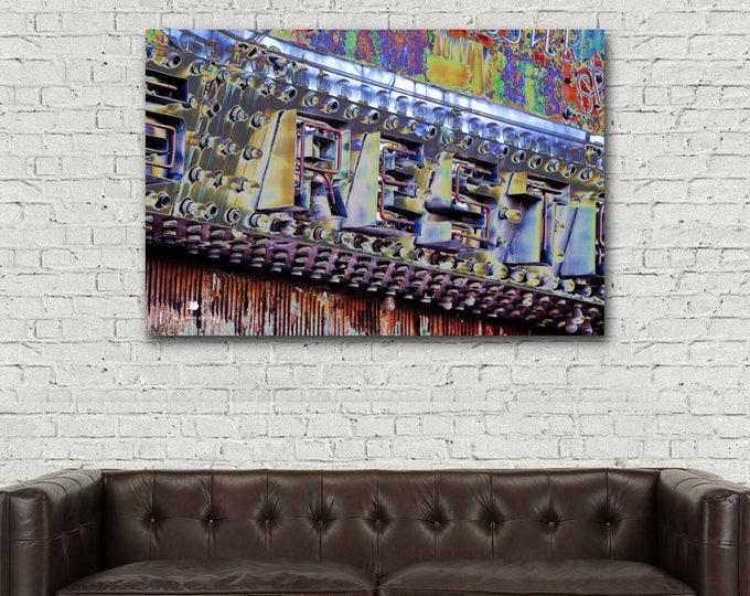 Metal Print Industrial, Photography, Rustic Decor, Masculine Wall Art, Man Cave, Urban Sign Art, Aluminum Metal Print 24x36 20x30 16x20