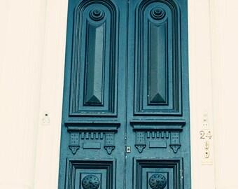 Charleston Photography Print, Teal Door Print,  Framed Door Art, Pink & Blue, Doors of Charleston, Framed Charleston Print, Large Canvas Art