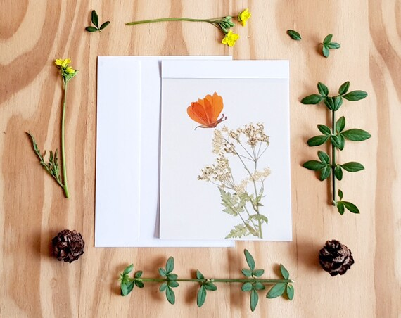 HANDMADE CARDS, pressed flower art, pressed flower cards, blank cards, greeting cards, bride and groom card, wedding card, notecards, love