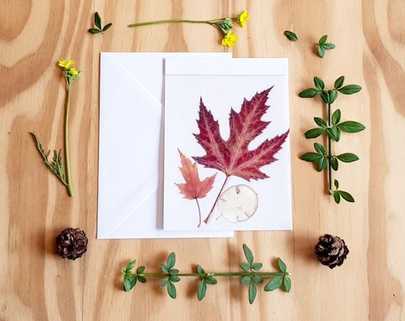 Happy fall card, grateful card, fall greeting card, thanksgiving card, fall leaves card, autumn card, fall stationary, greeting cards, fall