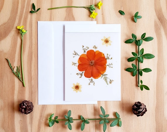 BLANK CARDS, greeting cards handmade, pressed flower art, notecards, pressed flower cards, wedding card, birthday card, thinking of you card