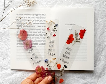 Just one more chapter pressed Flowers bookmark, nature bookmarks handmade, book accessories, birthday gift, dried wildflowers, one more page