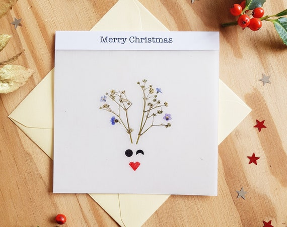 SOLD CHRISTMAS CARDS, greeting cards, seasons greetings, animal cards, merry Christmas card, deer card, handmade cards, xmas cards, Rudolph