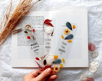 Love you Mum bookmark, Love you Mom, handmade pressed flower book mark, Love you Mummy, Mothers day gift, gifts for mum, bookmark for mum