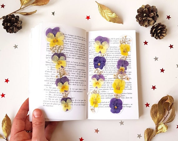 Flower Bookmark Set - Reader Gift - Teacher Gift - Bookclub Gift - Bookworm Gift - Book lover Gift - handmade book mark - Xmas gift idea