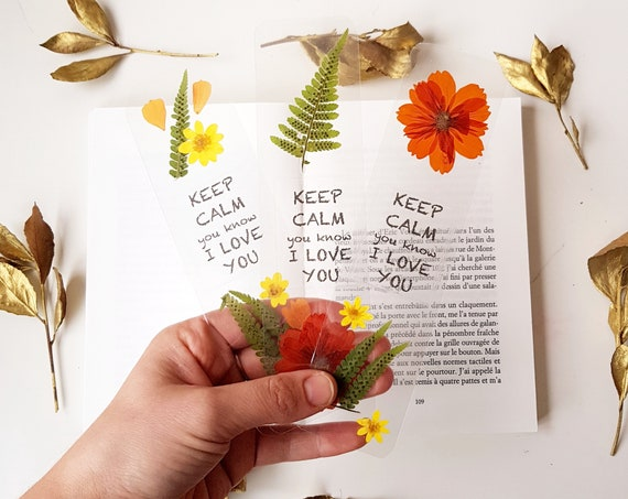 Valentines day bookmark, books reader gifts, pressed flowers handmade bookmark quote, unique gifts, appreciation gifts, Mother's Day gift