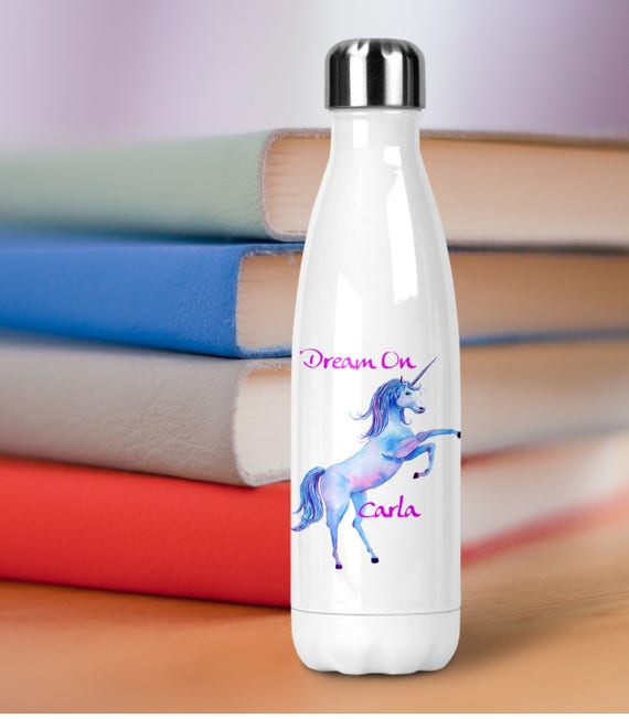 personalized insulated water bottle stainless steel double etsy