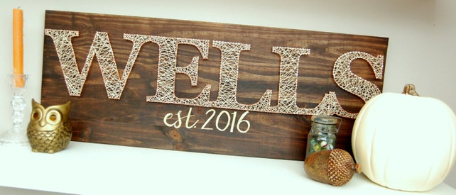 Customized String Art Last Name Foyer Art Nail And String Etsy