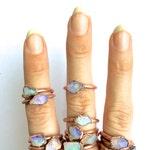 Raw opal ring   Australian opal ring   Rough opal ring   Raw Australian fire opal jewelry   Rough opal ring   Rough Australian opal ring