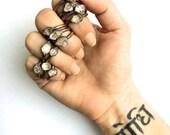 Raw crystal ring | Herkimer diamond ring | Electroformed copper crystal ring | Crystal quartz ring | Rock quartz crystal statement ring