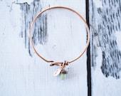 Raw sapphire bracelet  Sapphire Bangle   Birthstone Jewelry   Electroformed Jewelry   Copper Bangle   Sapphire jewelry   Raw stone Jewelry