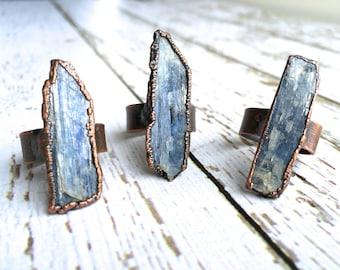 Raw Kyanite ring | Blue Kyanite crystal ring | Kyanite healing crystal ring | Raw stone ring | Raw gemstone ring | Kyanite mineral ring