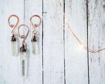 Raw crystal ornament | Quartz crystal ornament | Raw crystal Christmas ornament | Quartz Holiday decoration | Natural Holidays