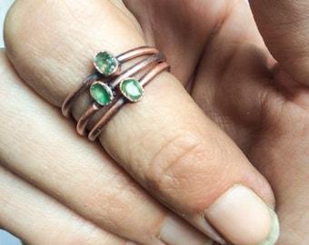 Emerald birthstone ring | Emerald crystal ring | Colombian emerald gemstone ring | Emerald jewelry | Emerald ring | May birthstone ring