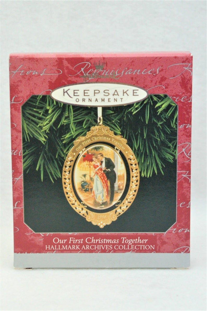 Hallmark Our First Christmas Ornament.1998 Hallmark Keepsake Christmas Ornament Our First Christmas Together Hallmark Archives Collection New Old Stock Original Packaging Nwt