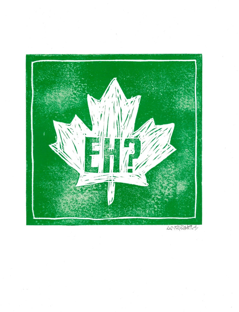 Canada Eh all four colours Lino Prints