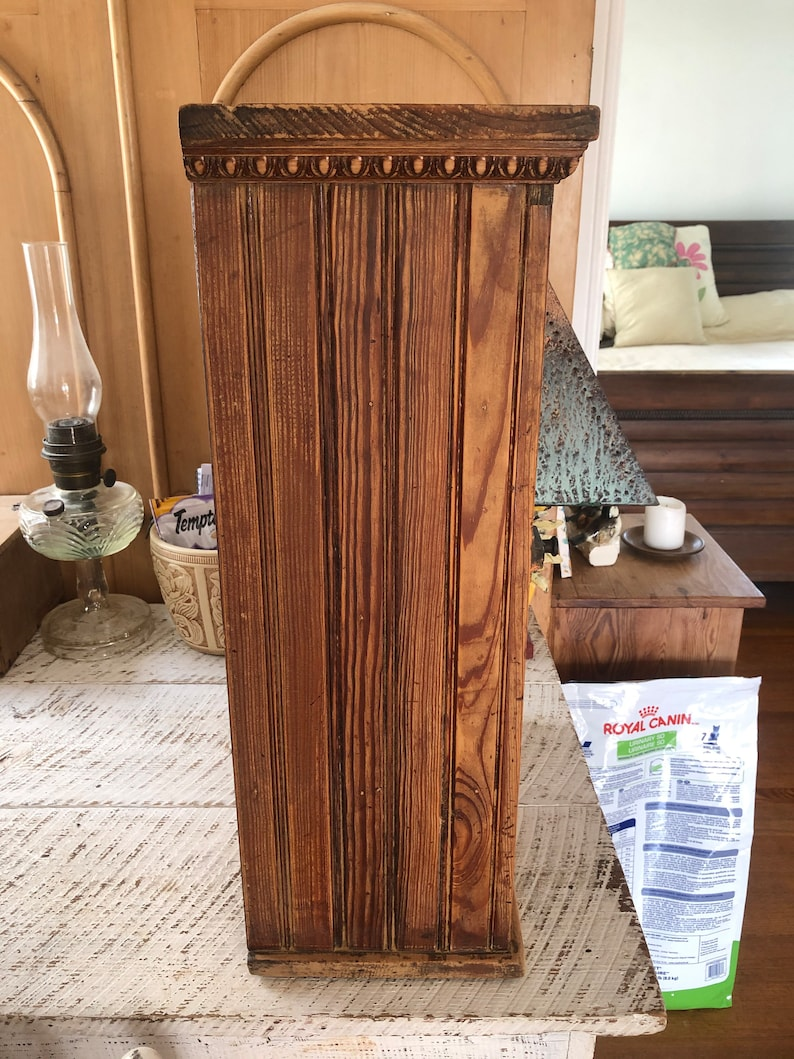 Beautiful Antique Pine Farmhouse Cupboard Kitchen Wall Jelly Cabinet
