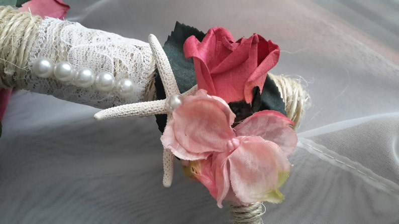 Beach Wedding Bouquet Set Starfish Bouquet Set Nautical Bouquet Set