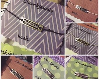 Word Plaque Wish Bracelet