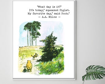 Four Set Of Winnie The Pooh Prints Love Wedding Quotes Etsy