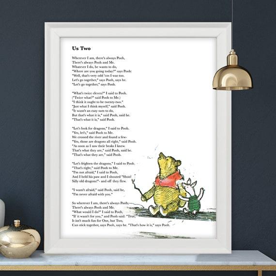Winnie The Pooh Quote Winnie The Pooh US Two Poem Wedding