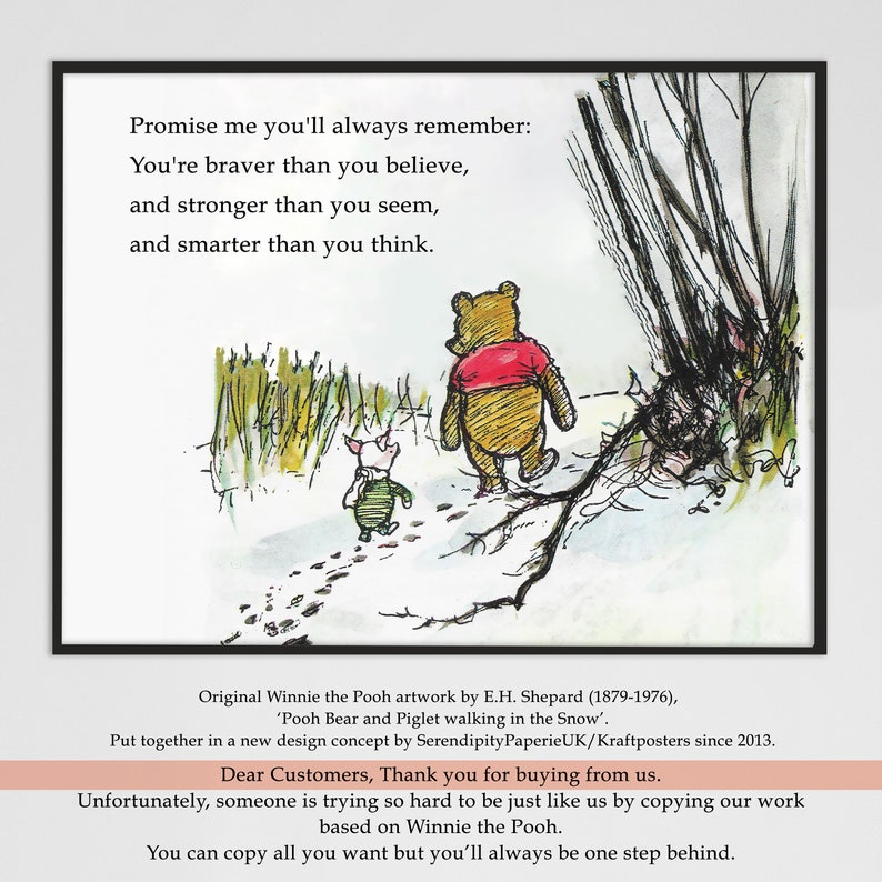Winnie The Pooh Quote Promise Me Youll Always Remember Etsy