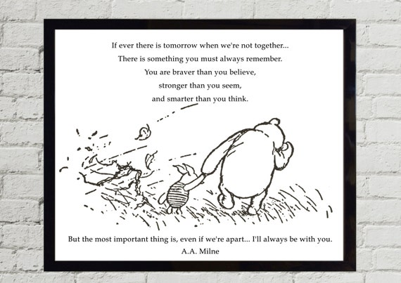 Winnie The Pooh Quotes If Ever There Is Tomorrow When Etsy