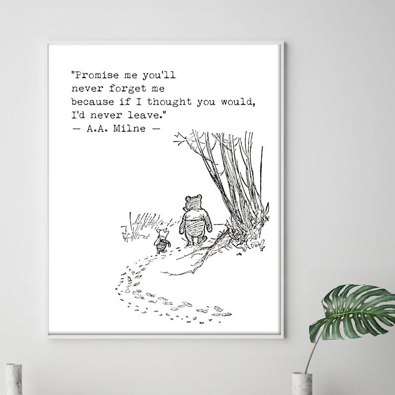 Winnie The Pooh Love Wedding Quotes Promise Me Print Nursery Etsy