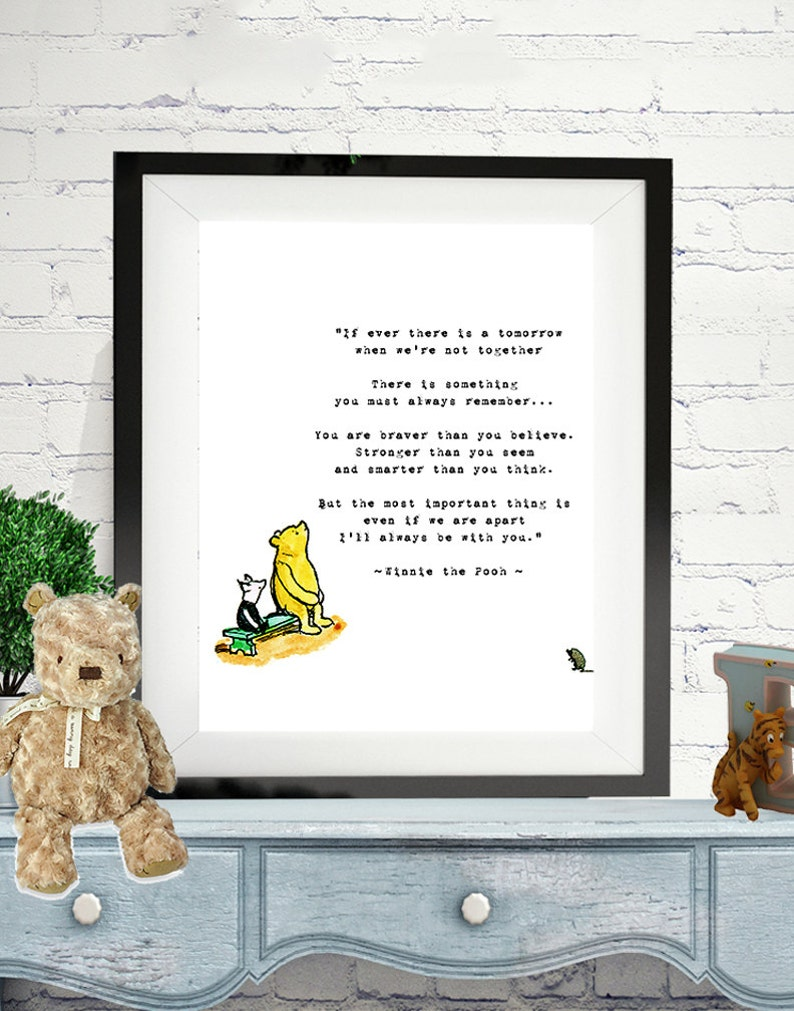 Winnie The Pooh Wedding Quotes Pooh Baby Quotes If Ever Etsy