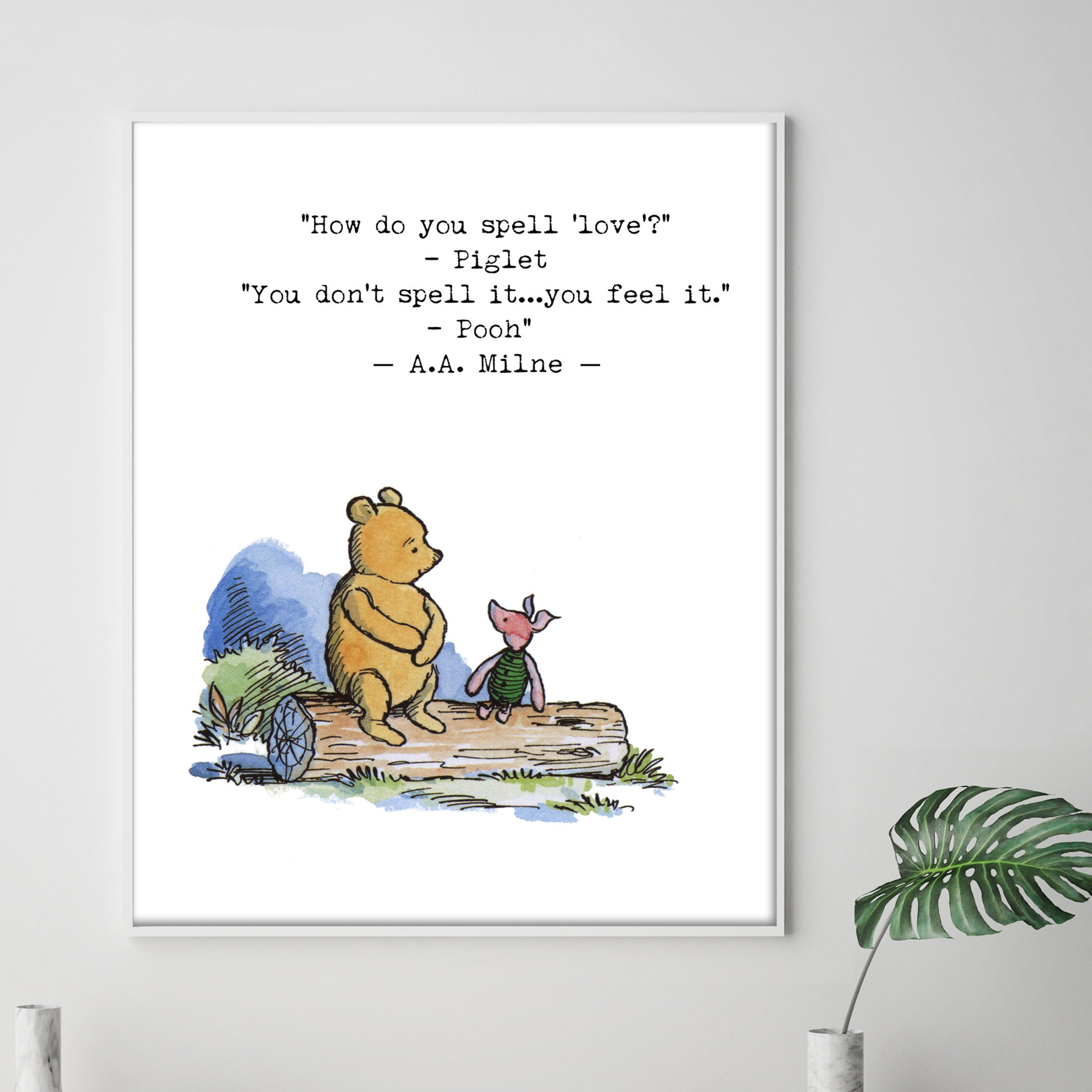 Piglet And Winnie The Pooh Quotes: How Do You Spell Love Quote Winnie The Pooh Love Wedding
