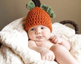 9ad91a027bc Crochet Baby Pumpkin Hat