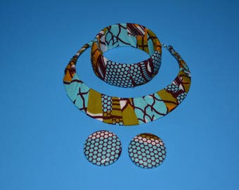 Turquoise Ankara Accessories