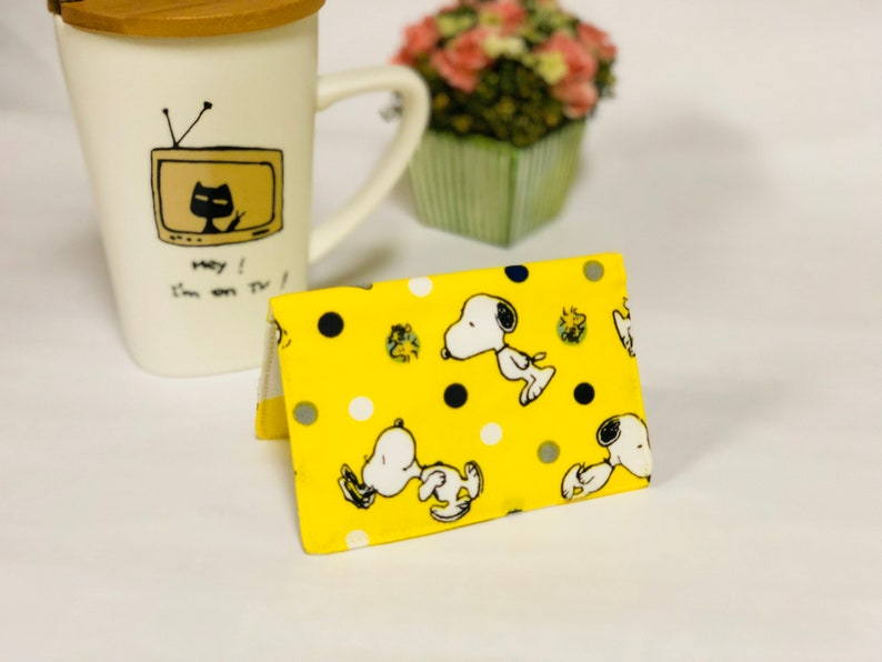 Snoopy and woodstock fabric cards holder credit card holder etsy