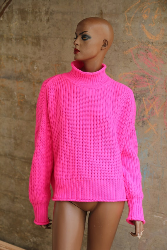 1990s Pink Turtle Neck Sweater