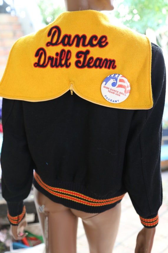 1994 Dance Drill Team Letterman Jacket Yellow and