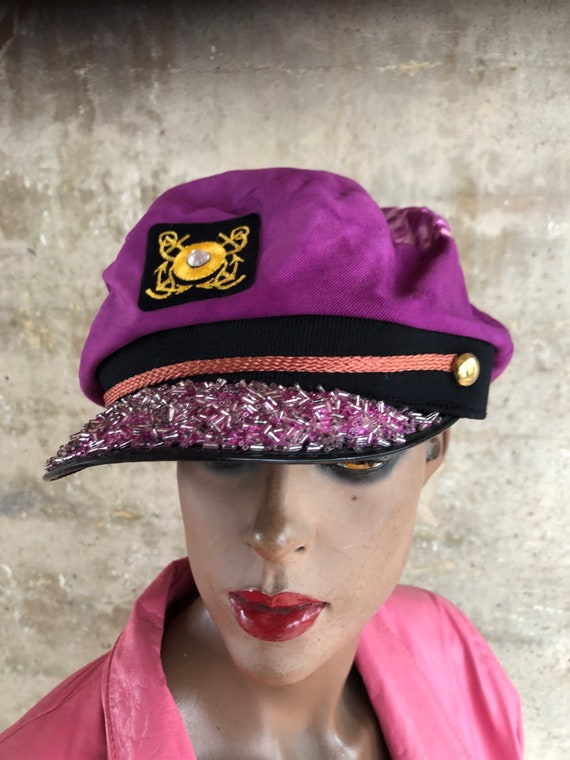 Tie Dyed Captain Hat Jeweled Love