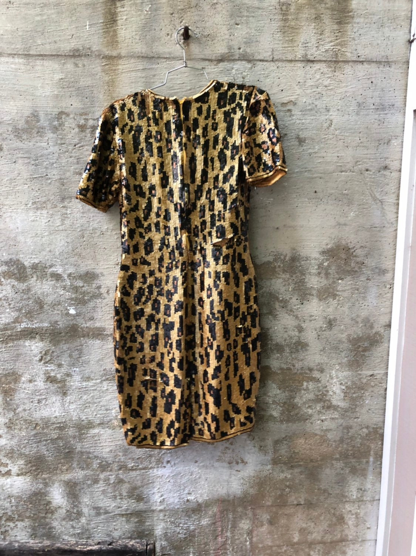 80s Dresses   Casual to Party Dresses 1980S Gunit 100 Rayon Vintage Sequin 80S Dress $28.00 AT vintagedancer.com